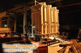Такелажные работы январь 2009г. Доставка и демонтаж трансформаторов.